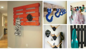 DIY wall coat racks