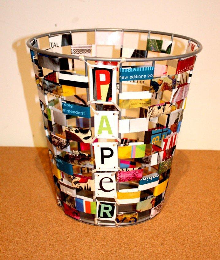 Diy ιδέες ανακύκλωσης από περιοδικά3