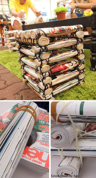 Diy ιδέες ανακύκλωσης από περιοδικά8