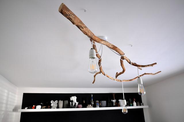 DIY πολυέλαιος απο κλαδιά δέντρου1