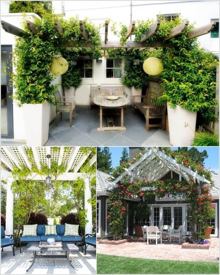 κήπος με πέργκολα ιδέες9