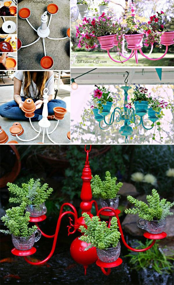 DIY ιδέες γλάστρας από οικιακά είδη1
