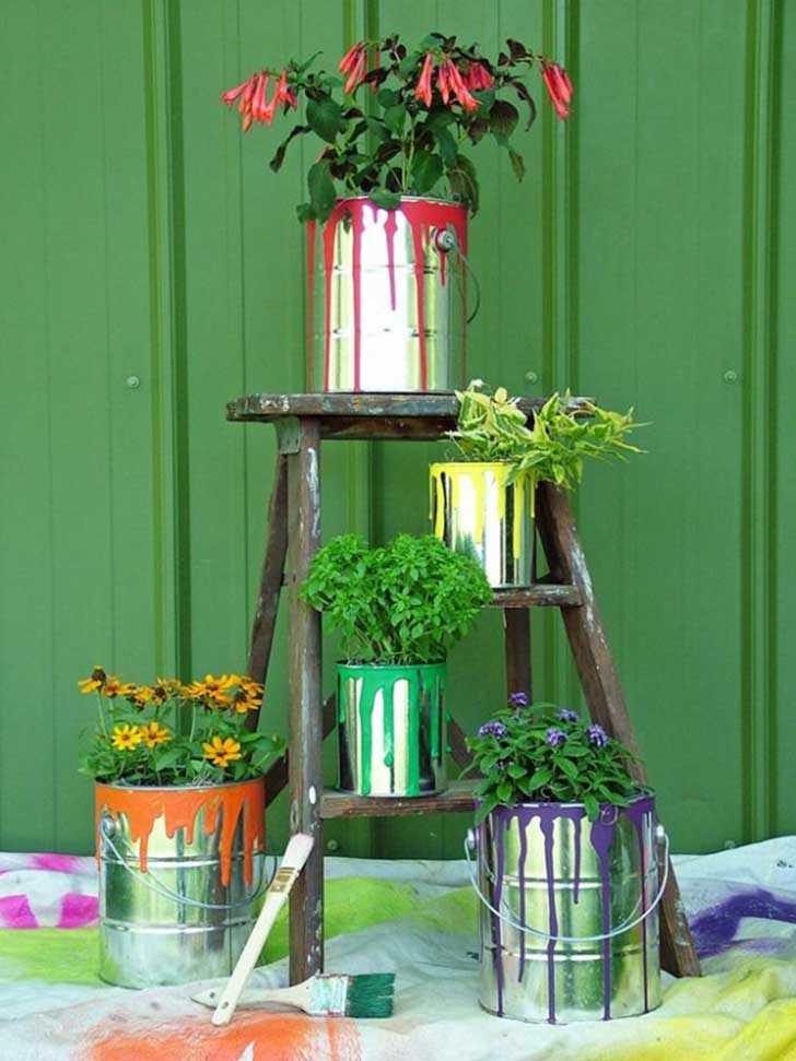 DIY ιδέες γλάστρας από οικιακά είδη16