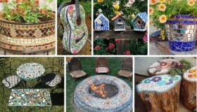 diy ψηφιδωτές διακοσμήσεις κήπου