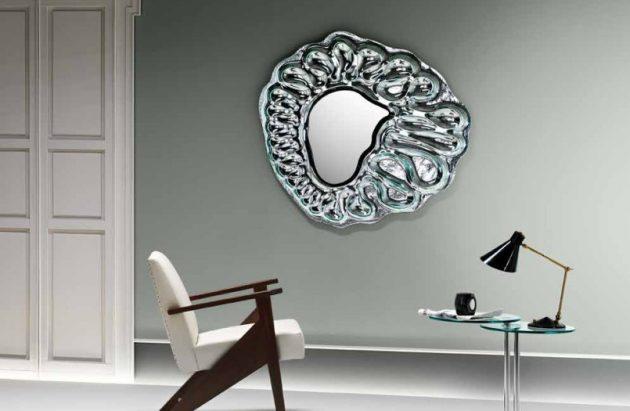 κομψά σχέδια καθρεπτών τοίχου1