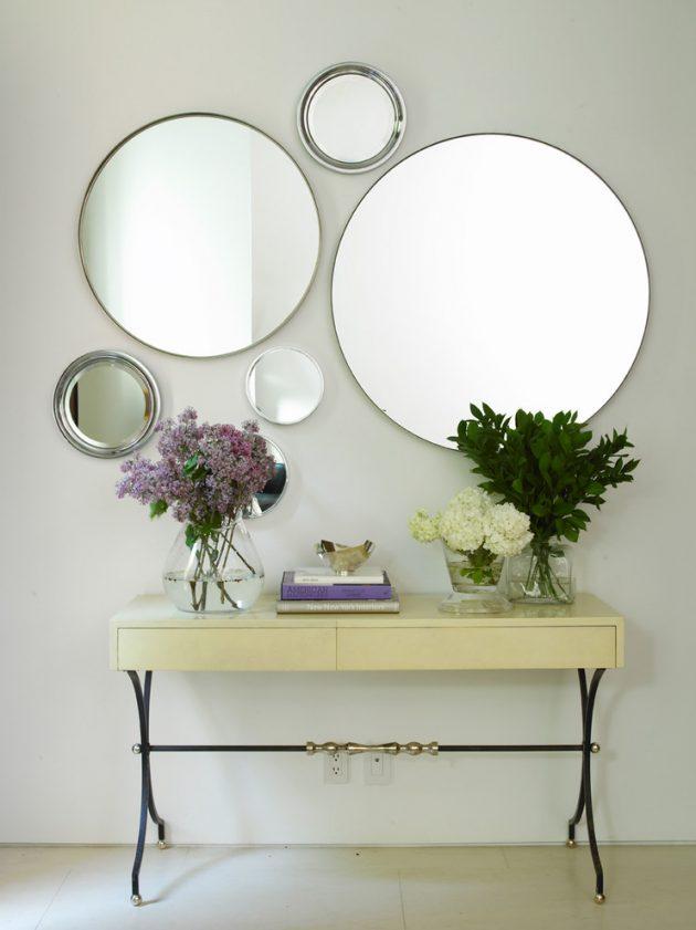 κομψά σχέδια καθρεπτών τοίχου2
