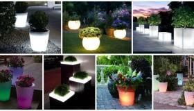 Φωτιζόμενες γλάστρες ιδέες