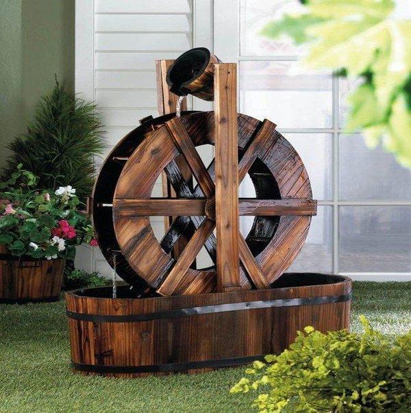 ξύλινα σιντριβάνια κήπου5