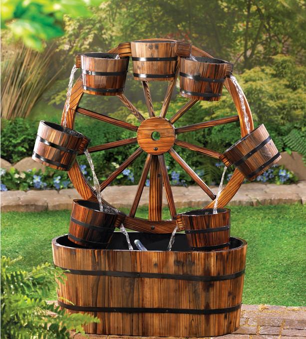 ξύλινα σιντριβάνια κήπου6