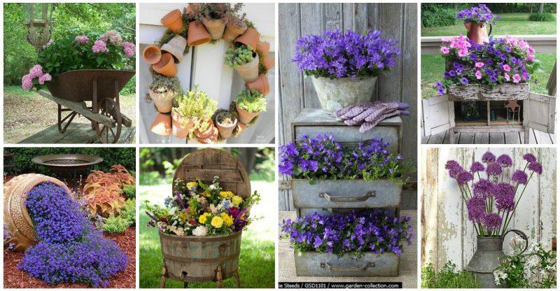 Έμπνευσμένες γλάστρες λουλουδιών