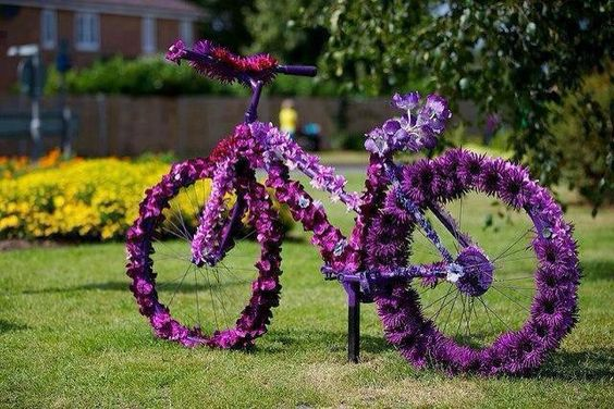 Ιδέες για γλάστρες με παλιά ποδήλατα11