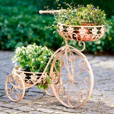 Ιδέες για γλάστρες με παλιά ποδήλατα16