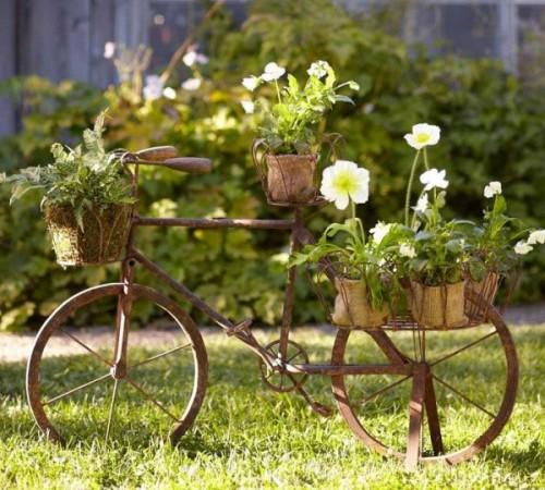 Ιδέες για γλάστρες με παλιά ποδήλατα7
