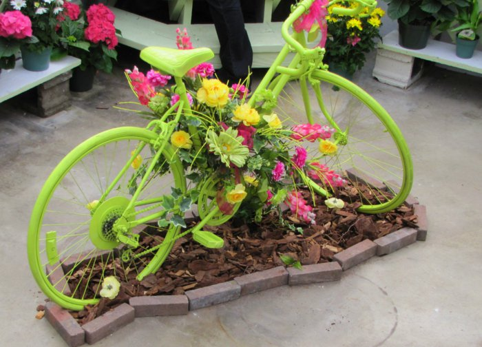 διάκοαμηση κήπου με ποδήλατα3