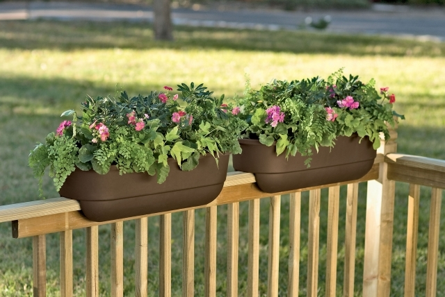 captivating Planters For Deck Rails Gallery Photos Planters For Decks