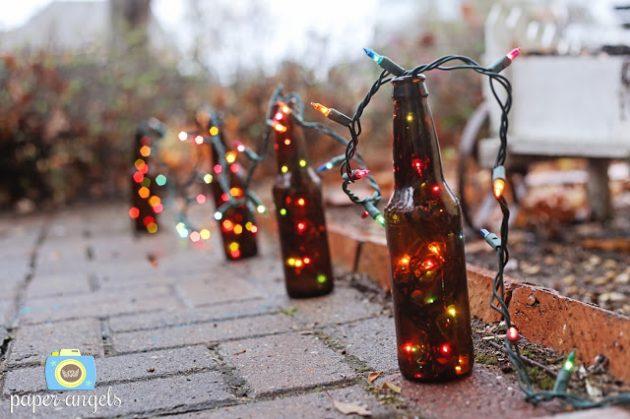 παλιά γυάλινα μπουκάλια σε απίθανα φωτιστικά13