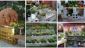 DIY ιδέες κήπου με μπλόκα