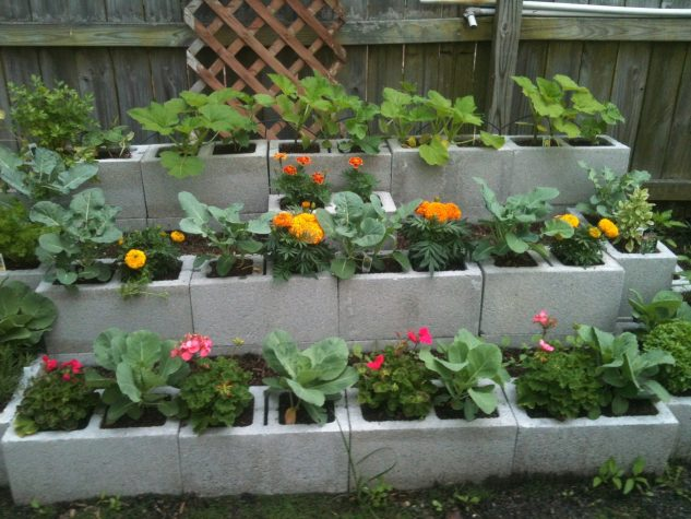 DIY ιδέες κήπου με μπλόκα1