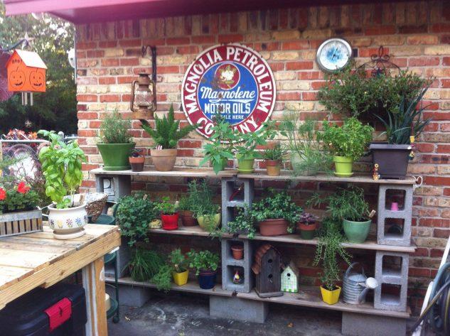 DIY ιδέες κήπου με μπλόκα3