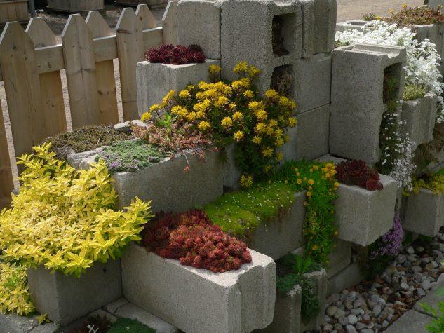 DIY ιδέες κήπου με μπλόκα6