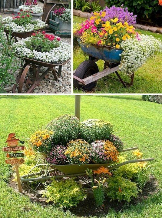 diy ιδέες για γλάστρες κήπου2