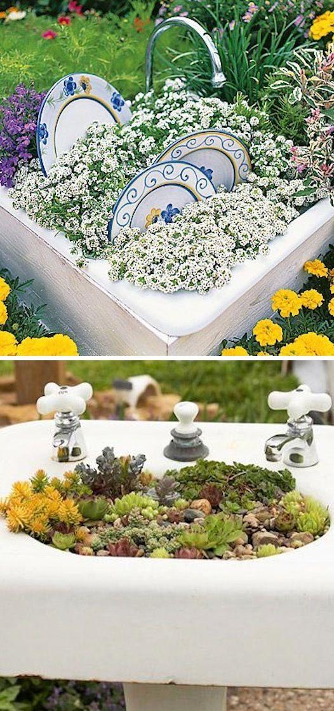 diy ιδέες για γλάστρες κήπου8