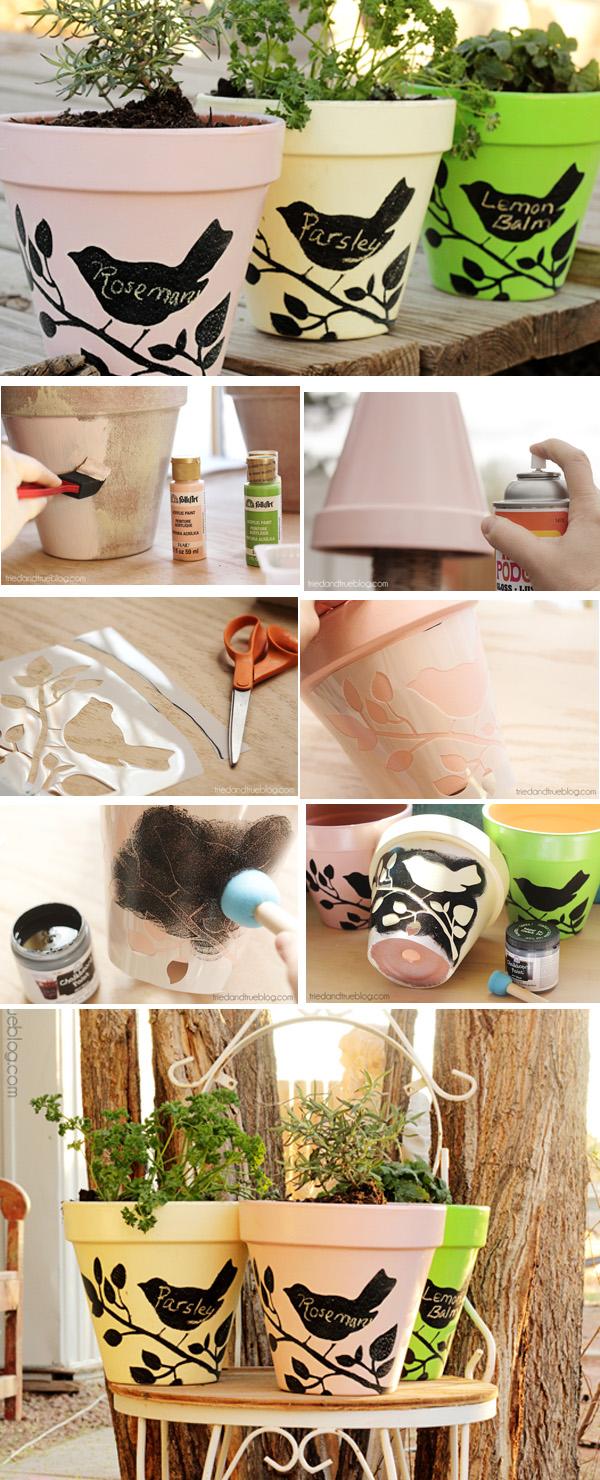 DIY ιδέες με γλάστρες10