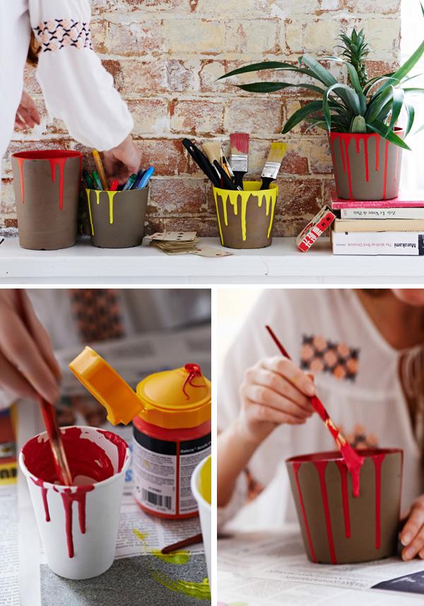 DIY ιδέες με γλάστρες12