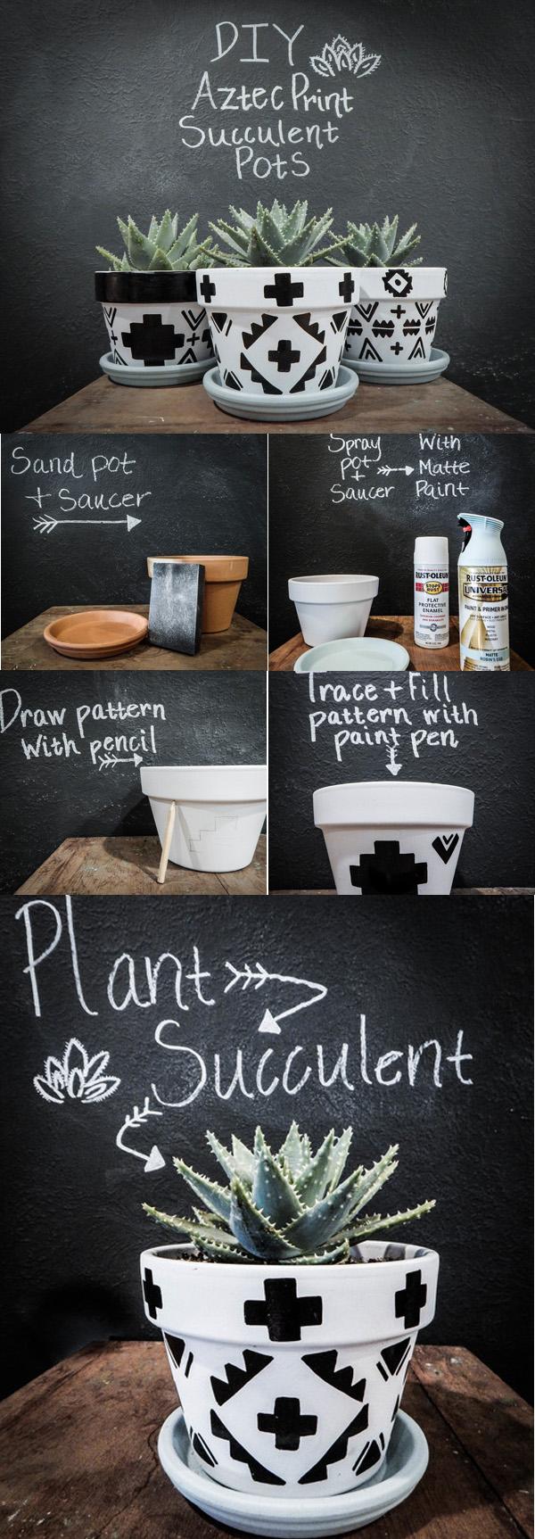 DIY ιδέες με γλάστρες16