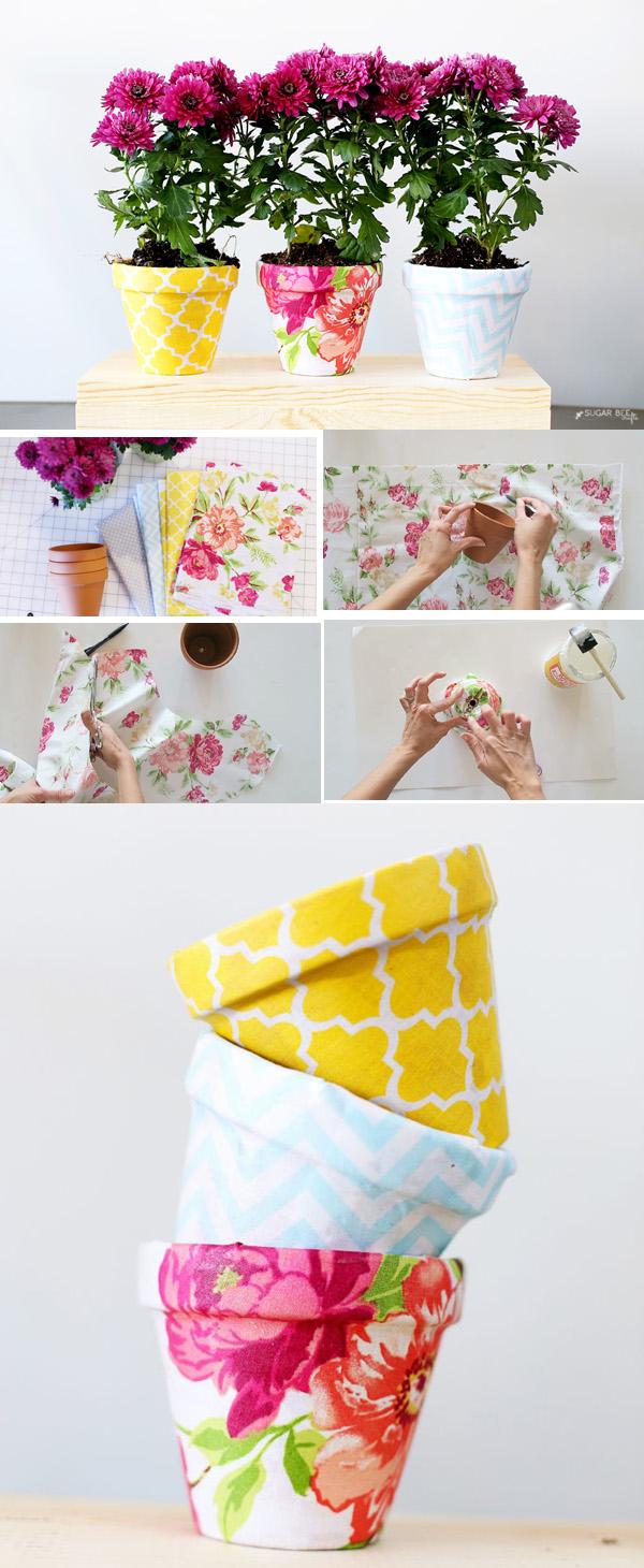 DIY ιδέες με γλάστρες18