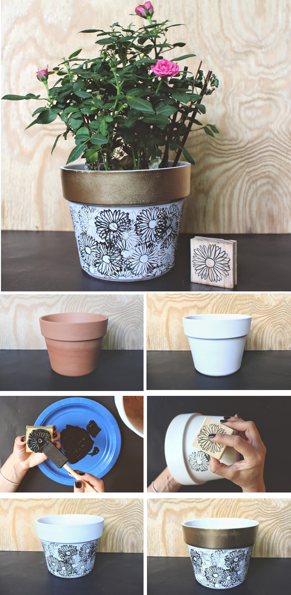DIY ιδέες με γλάστρες34