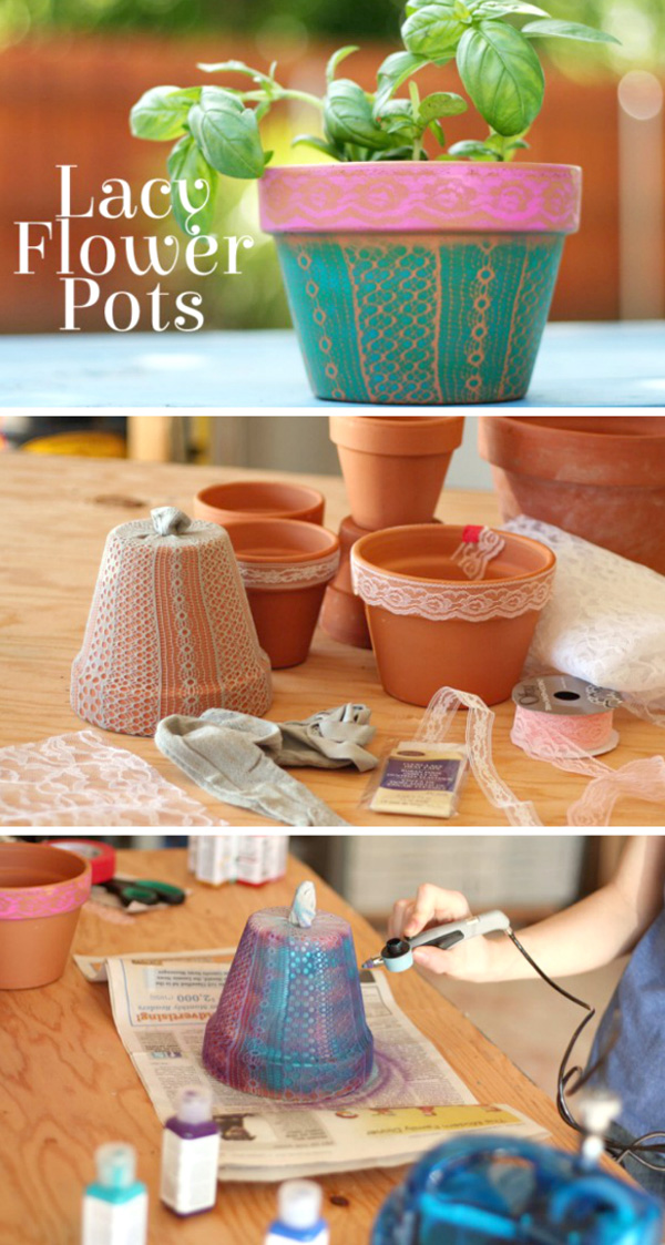 DIY ιδέες με γλάστρες4