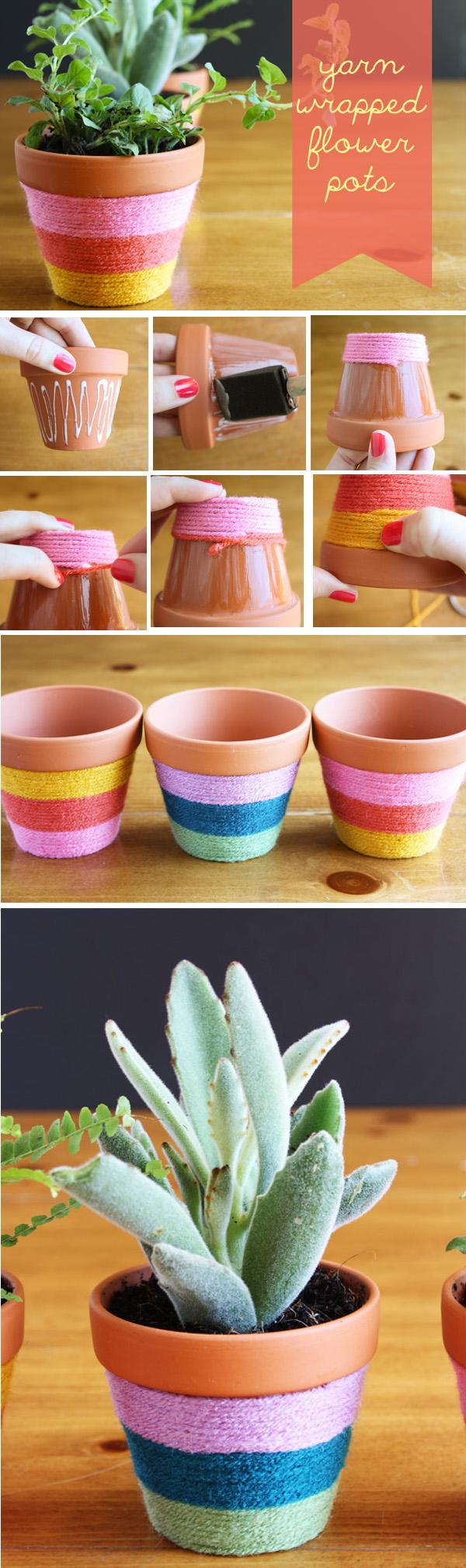 DIY ιδέες με γλάστρες7
