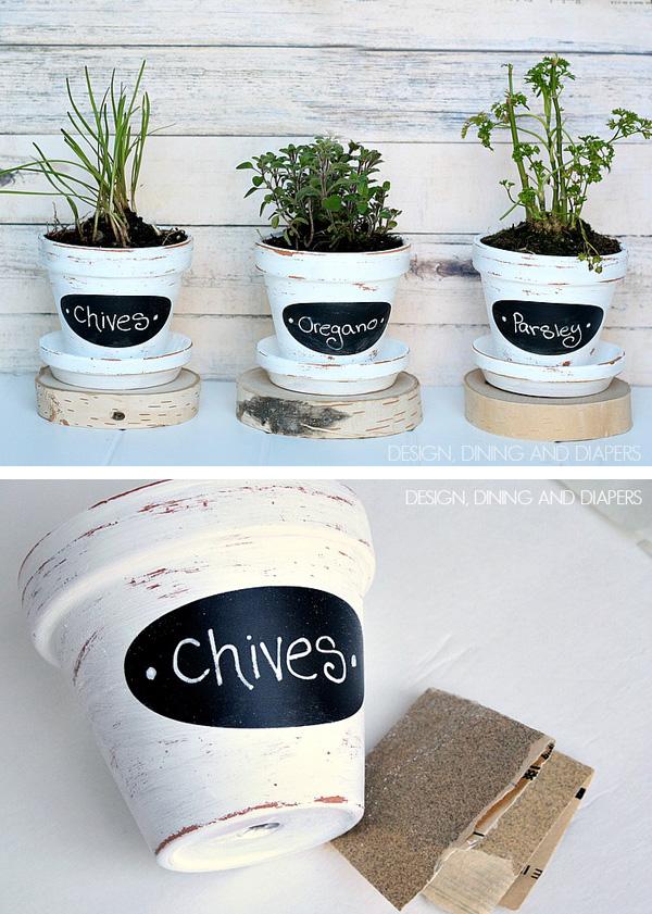 DIY ιδέες με γλάστρες9