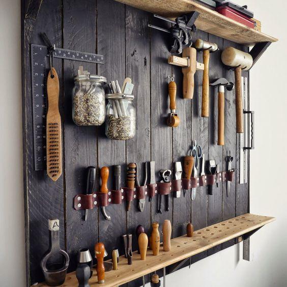 DIY ιδέες αποθήκευσης και οργάνωσης των εργαλείων5