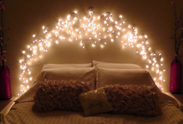 headboard with lights pinterest