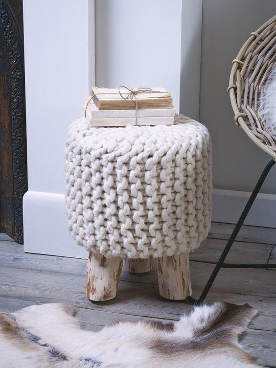 ιδέες διακόσμησης με κουβέρτες παχιάς πλέξης10