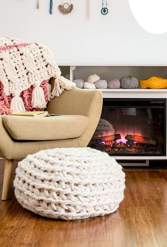 ιδέες διακόσμησης με κουβέρτες παχιάς πλέξης12