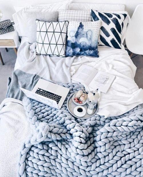 ιδέες διακόσμησης με κουβέρτες παχιάς πλέξης2