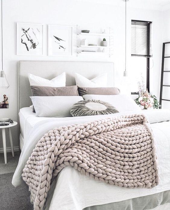 ιδέες διακόσμησης με κουβέρτες παχιάς πλέξης3