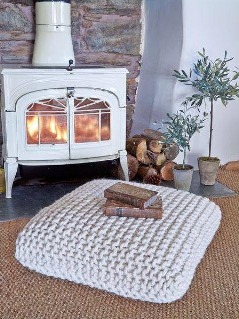 ιδέες διακόσμησης με κουβέρτες παχιάς πλέξης8