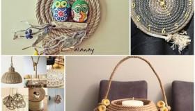 diy ιδέες διακόσμησης με σχοινί