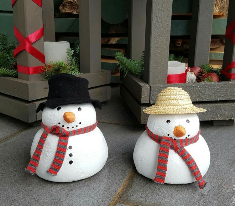 Χριστουγεννιάτικες διακοσμητικές κατασκευές από μπετόν6