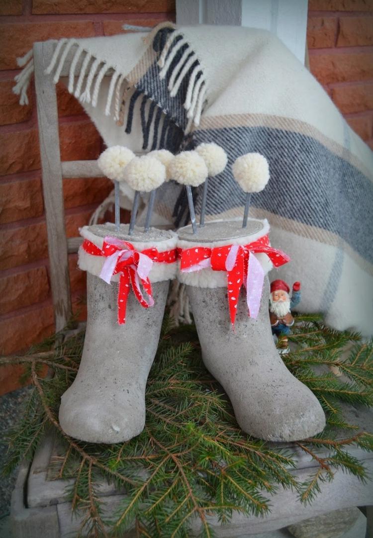 Χριστουγεννιάτικες διακοσμητικές κατασκευές από μπετόν7