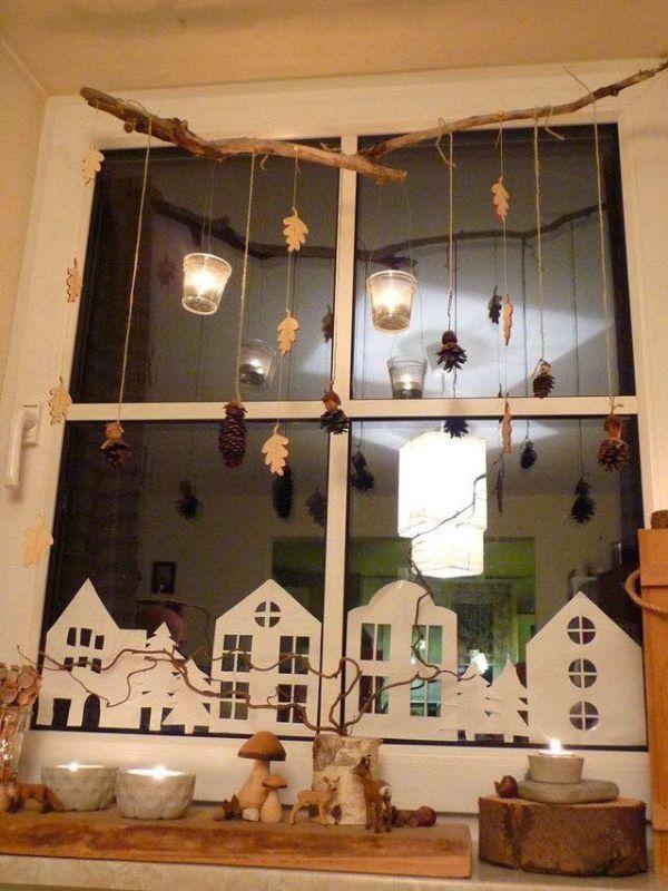 Χριστουγεννιάτικη διακόσμηση παραθύρων10