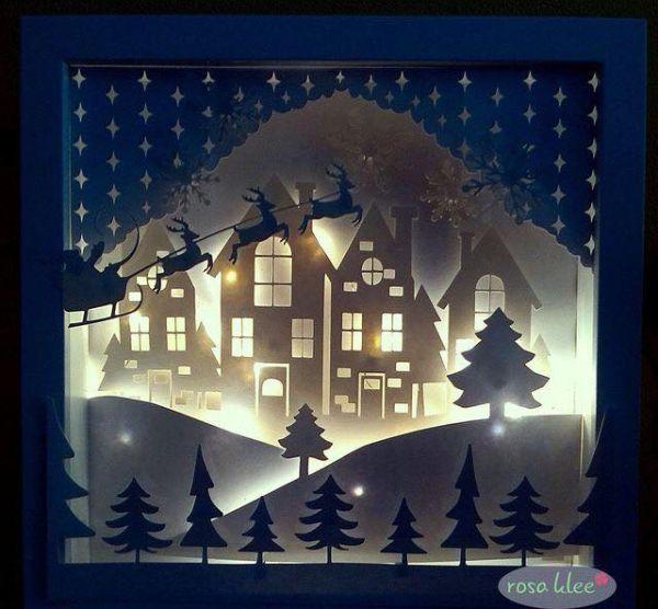Χριστουγεννιάτικη διακόσμηση παραθύρων12