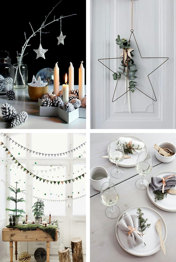 χριστουγεννιάτικη διακόσμηση σε άσπρο - μαύρο12
