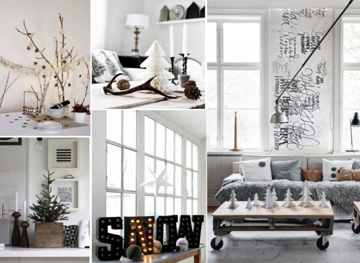 χριστουγεννιάτικη διακόσμηση σε άσπρο - μαύρο31