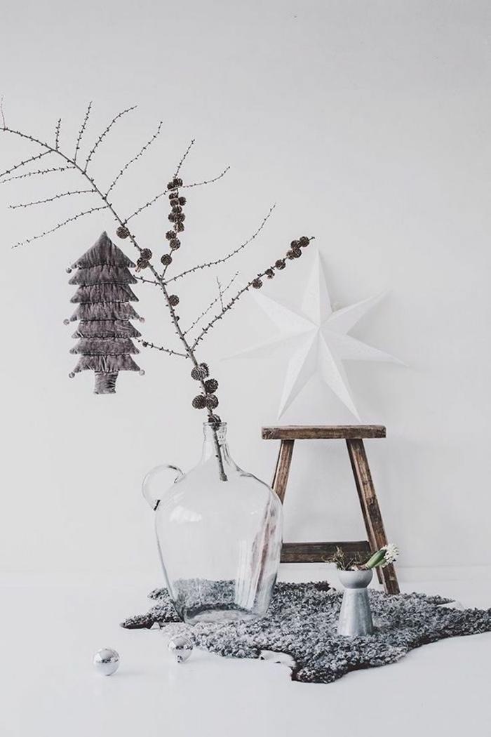 χριστουγεννιάτικη διακόσμηση σε άσπρο - μαύρο6