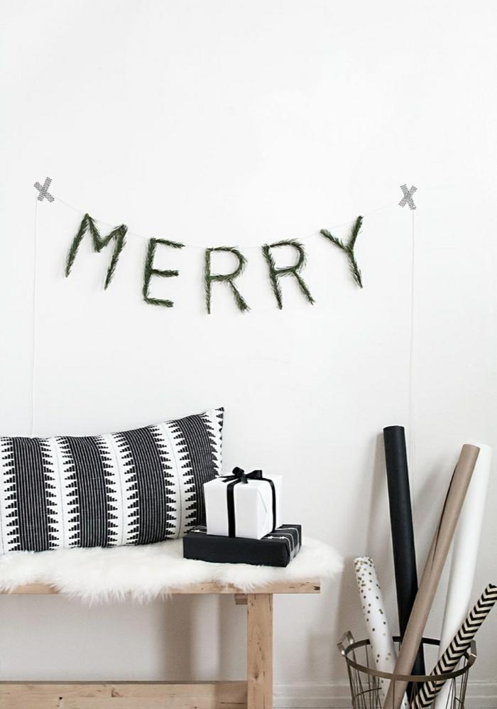 χριστουγεννιάτικη διακόσμηση σε άσπρο - μαύρο9